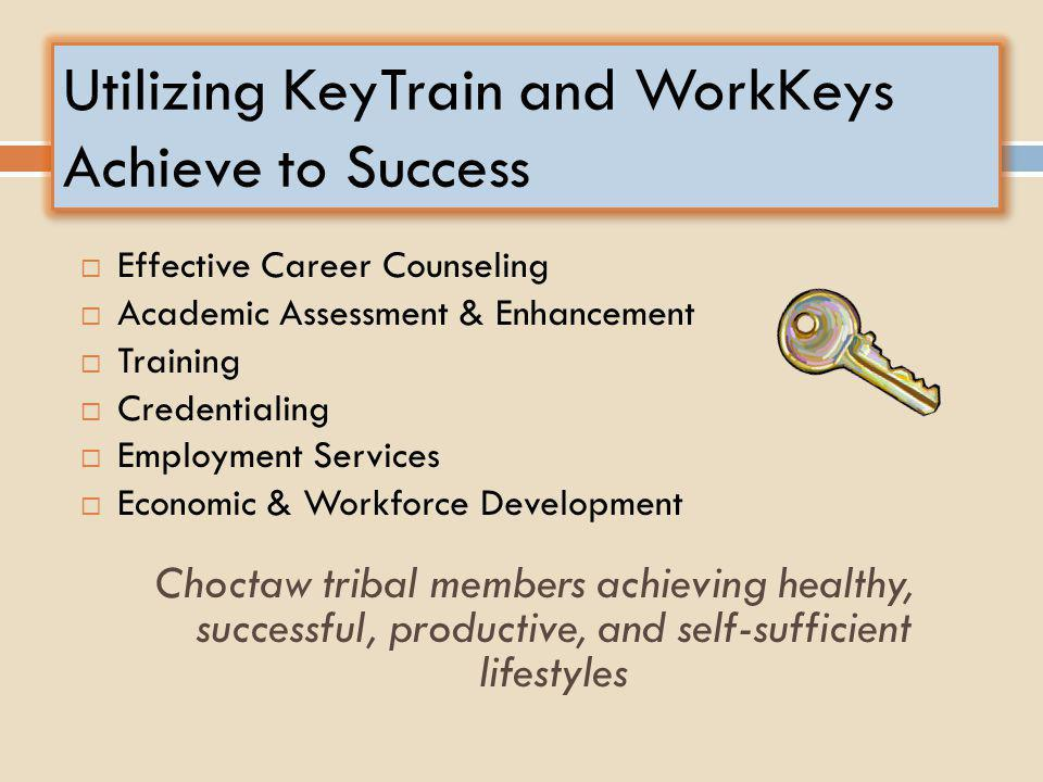 Utilizing KeyTrain and WorkKeys Achieve to Success