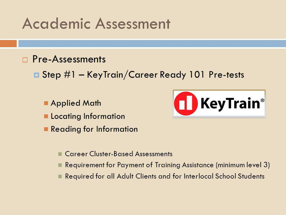 Academic Assessment Pre-Assessments