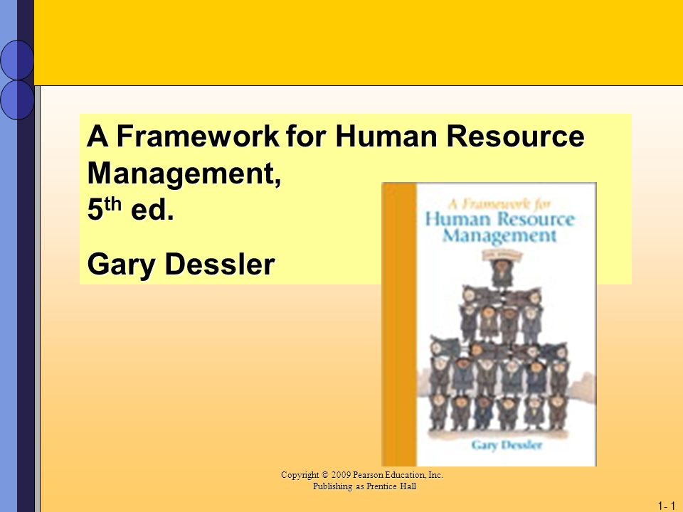 A Framework for Human Resource Management, 5th ed.