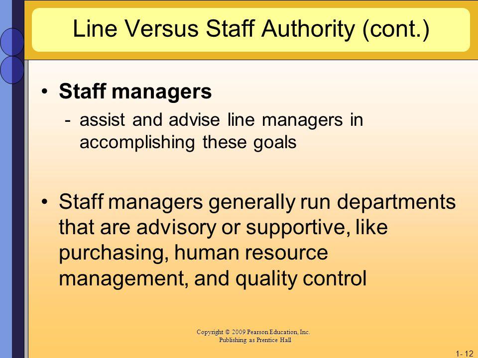 Line Versus Staff Authority (cont.)