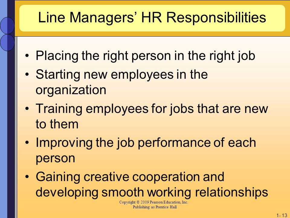 Line Managers' HR Responsibilities