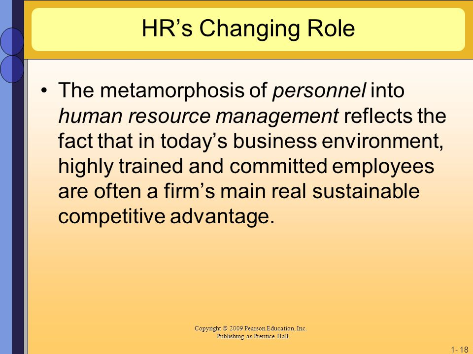 HR's Changing Role