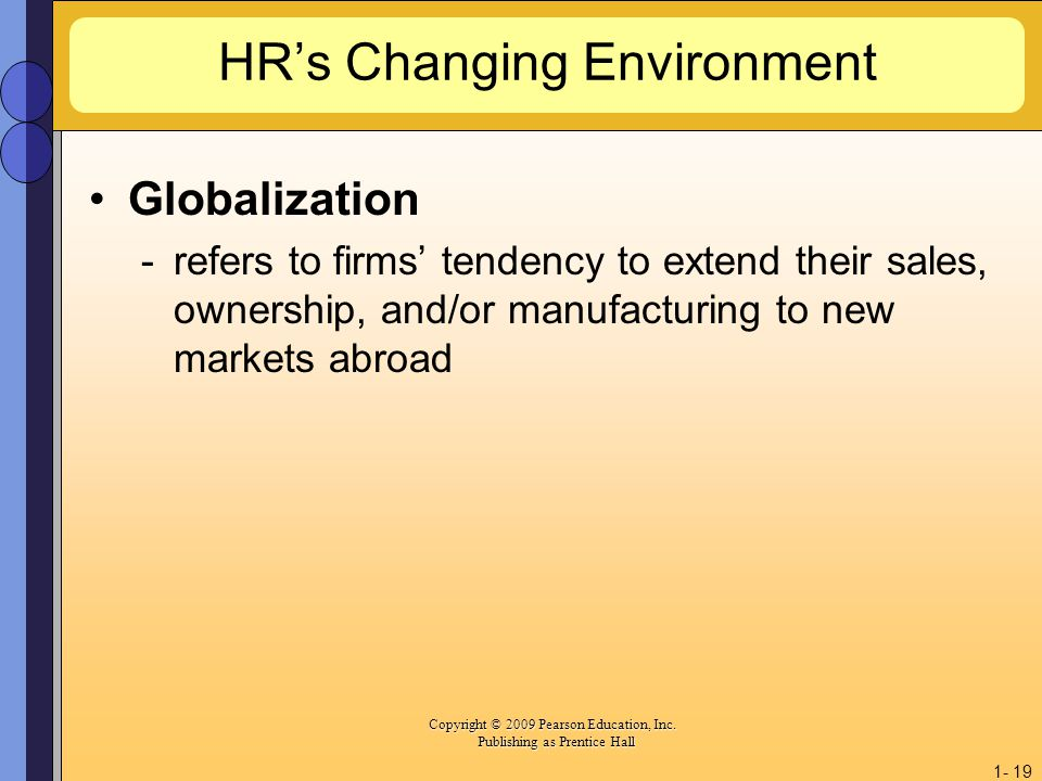 HR's Changing Environment