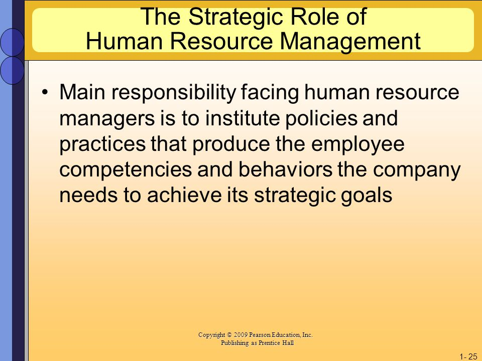 the strategic role of hrm in