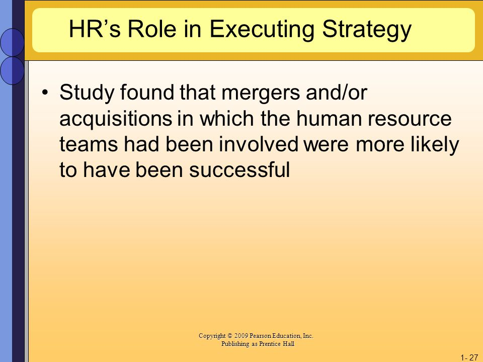 HR's Role in Executing Strategy