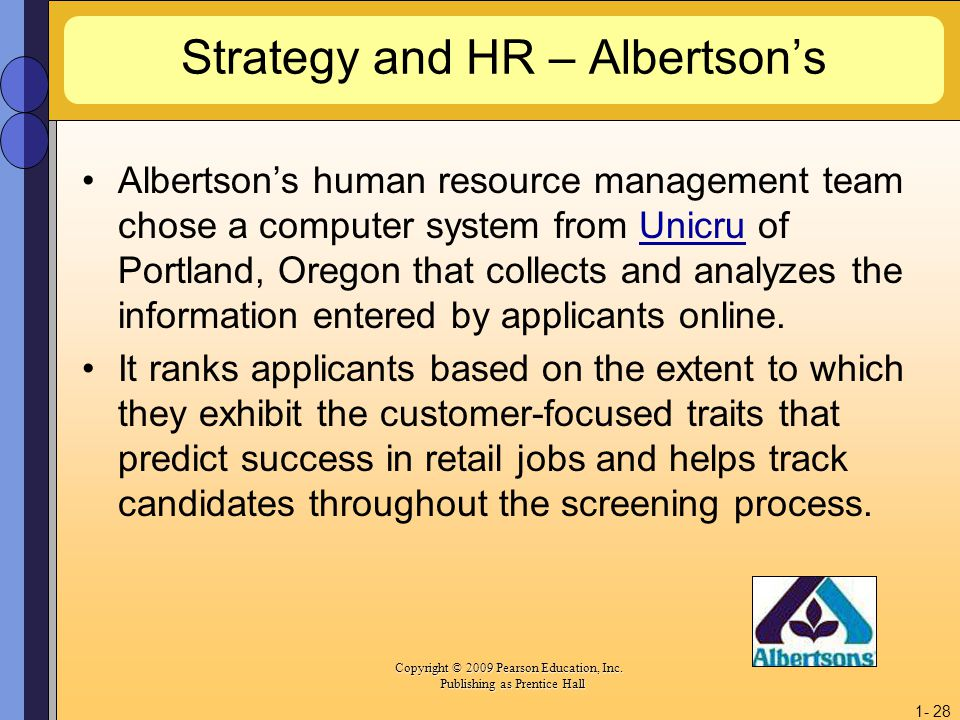 Strategy and HR – Albertson's