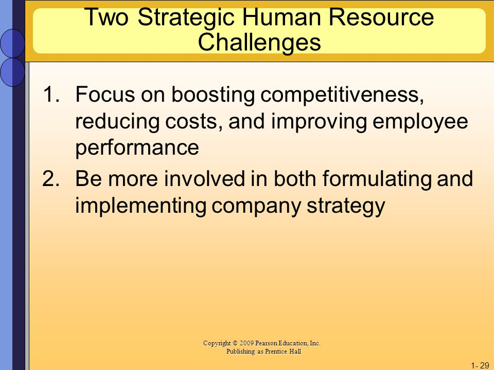 Two Strategic Human Resource Challenges