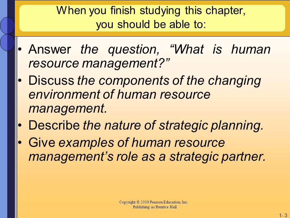 a discussion on the human resource management