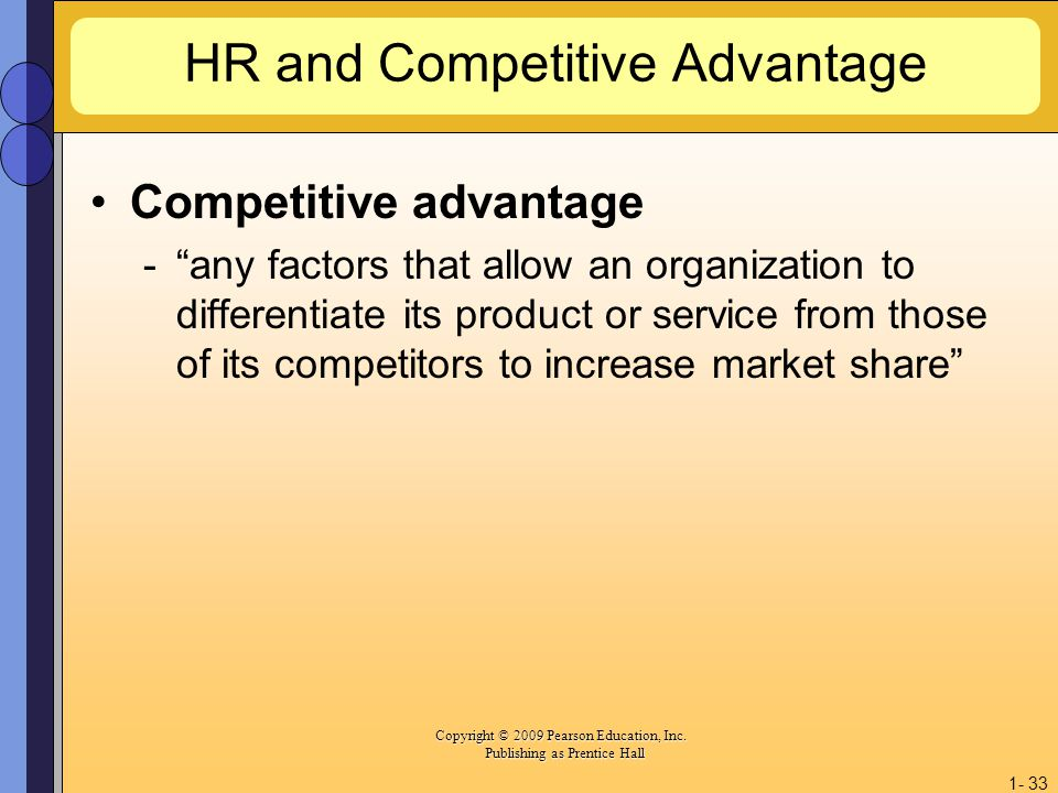 HR and Competitive Advantage