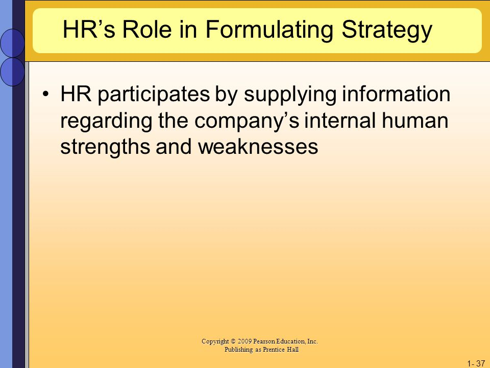 HR's Role in Formulating Strategy