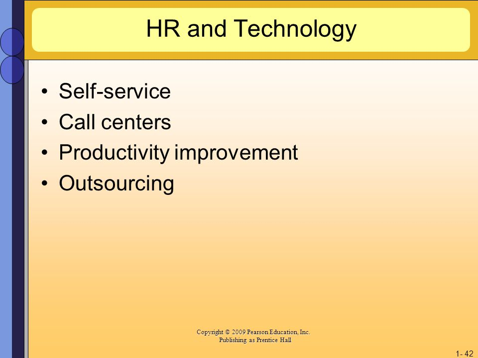 HR and Technology Self-service Call centers Productivity improvement