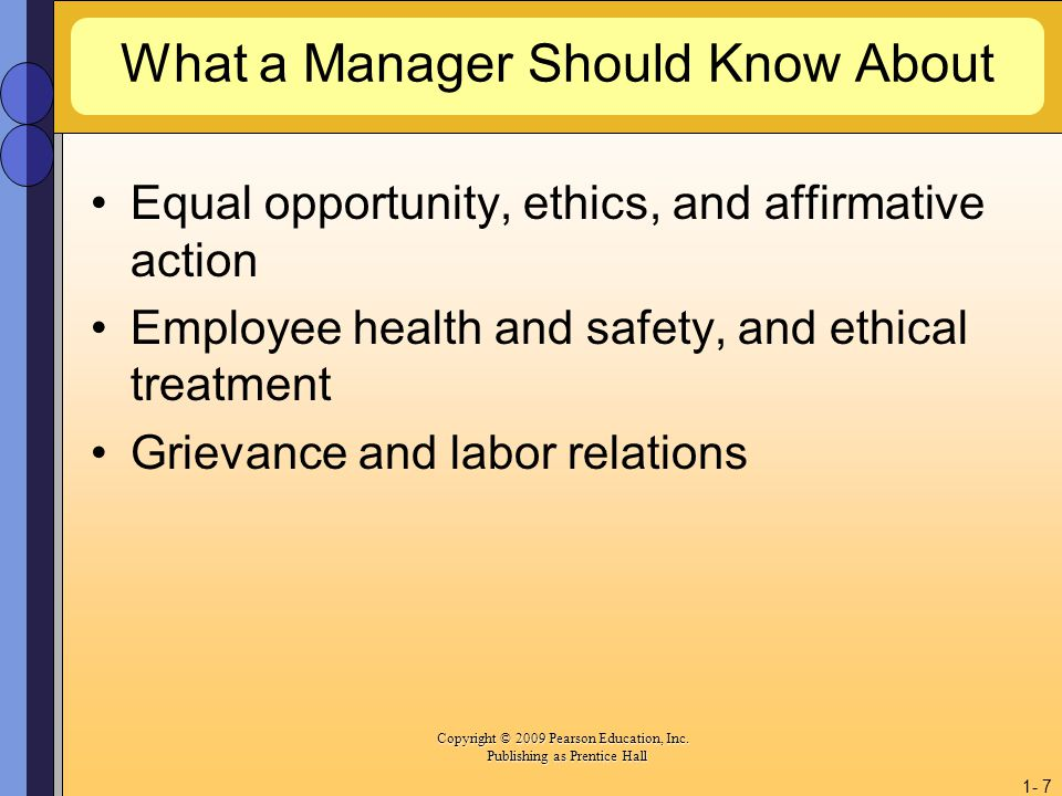 What a Manager Should Know About