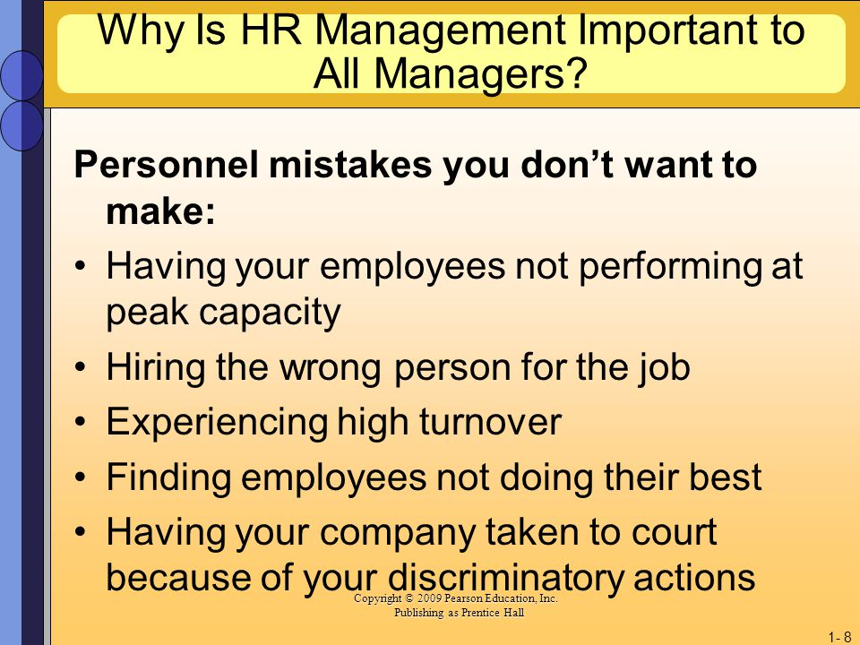 Why Is HR Management Important to All Managers