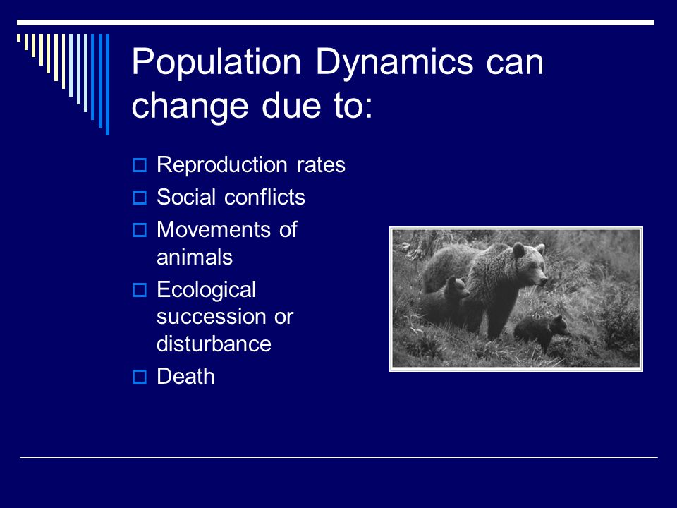 Population Dynamics can change due to: