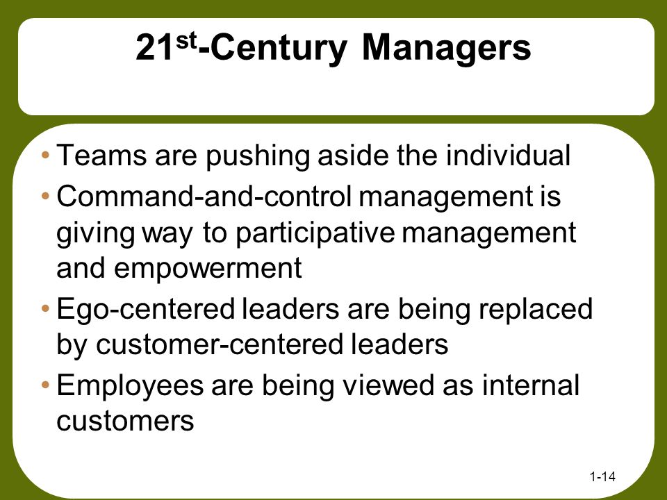 21st-Century Managers Teams are pushing aside the individual