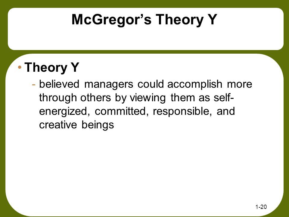McGregor's Theory Y Theory Y