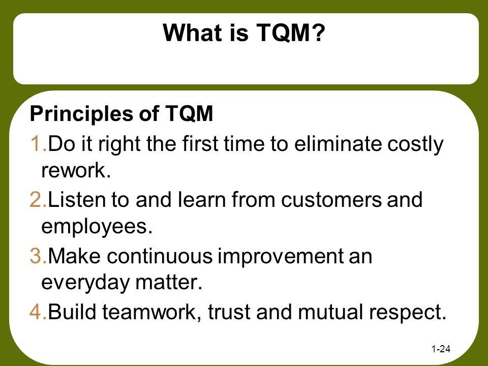What is TQM Principles of TQM