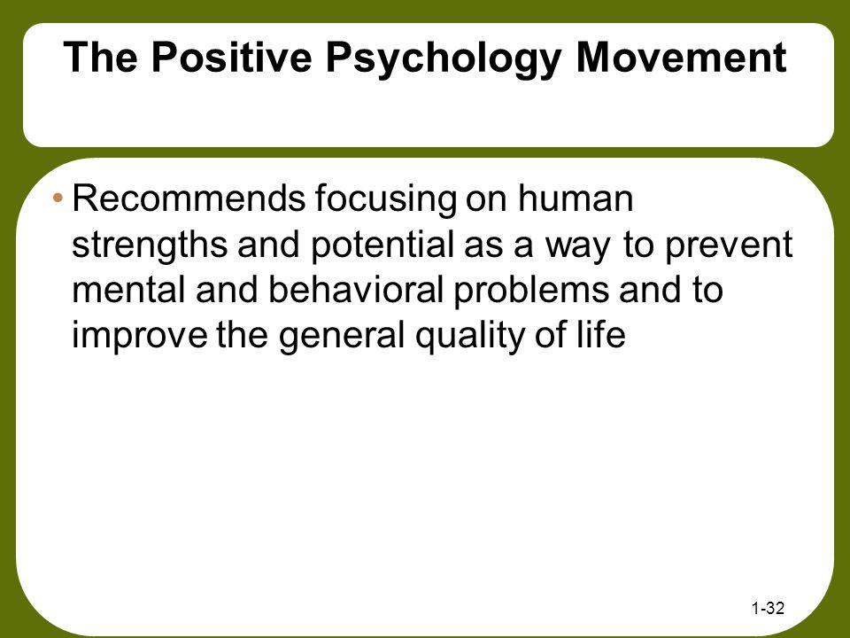 The Positive Psychology Movement
