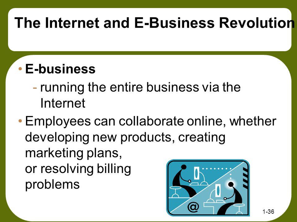 The Internet and E-Business Revolution