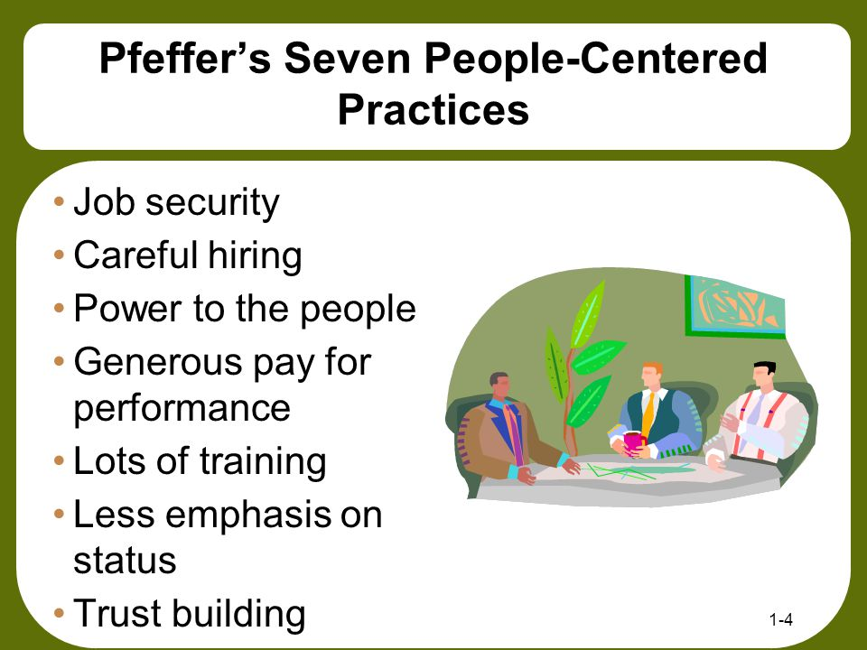 Pfeffer's Seven People-Centered Practices