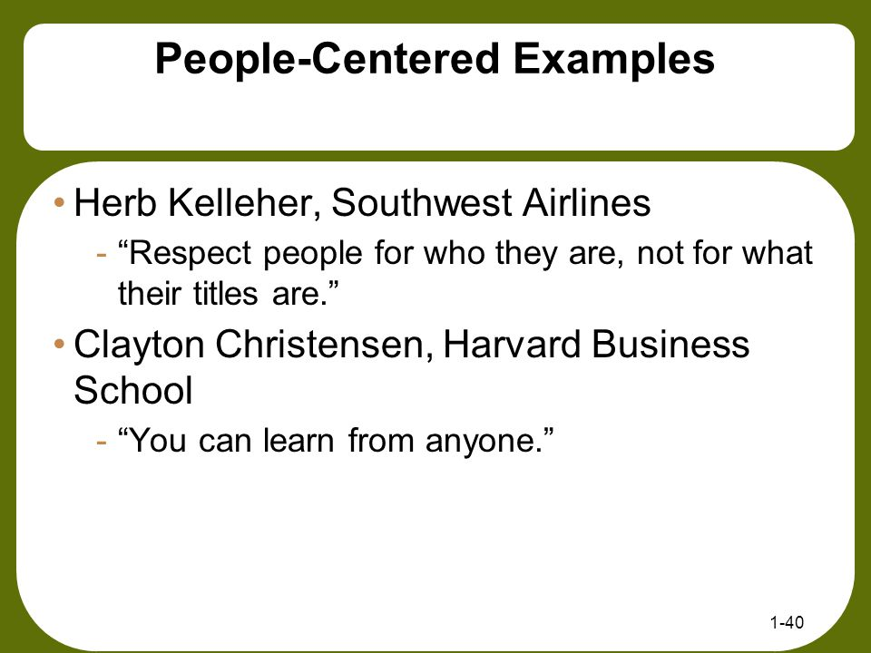 People-Centered Examples