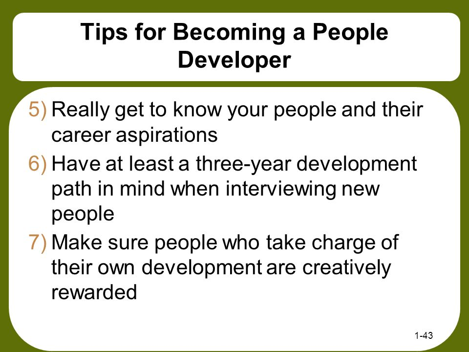 Tips for Becoming a People Developer
