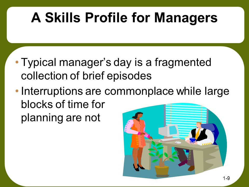 A Skills Profile for Managers