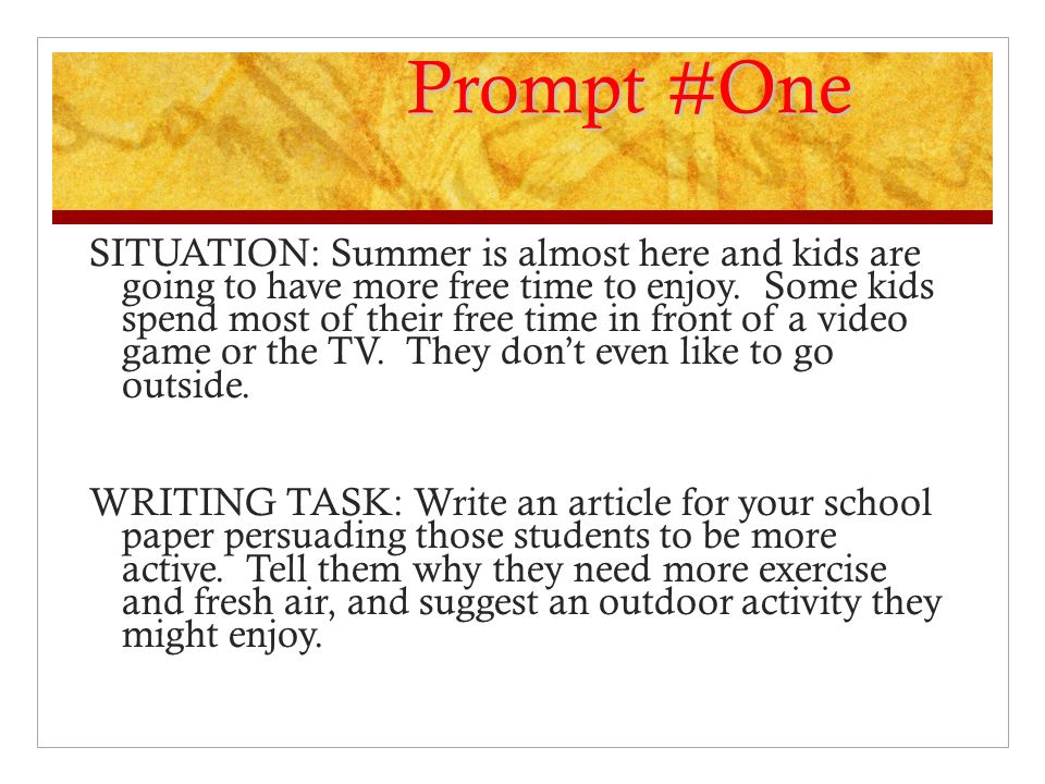 Prompt #One
