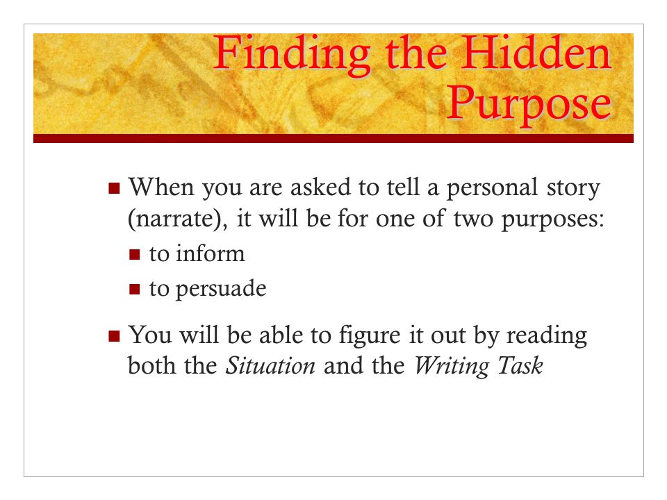 Finding the Hidden Purpose