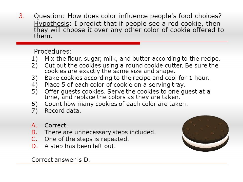 Question: How does color influence people s food choices