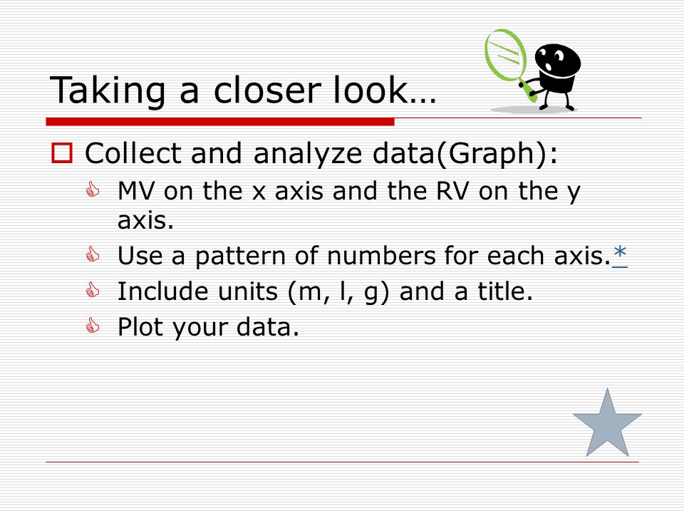 Taking a closer look… Collect and analyze data(Graph):