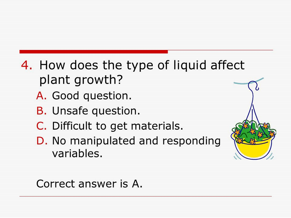 How does the type of liquid affect plant growth