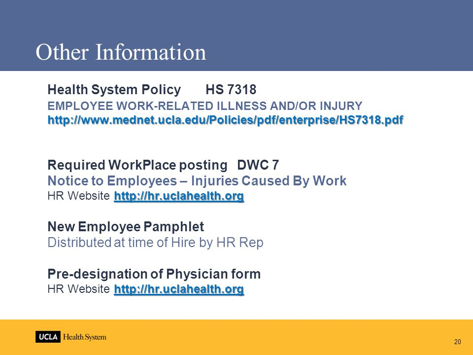 Other Information Health System Policy HS 7318