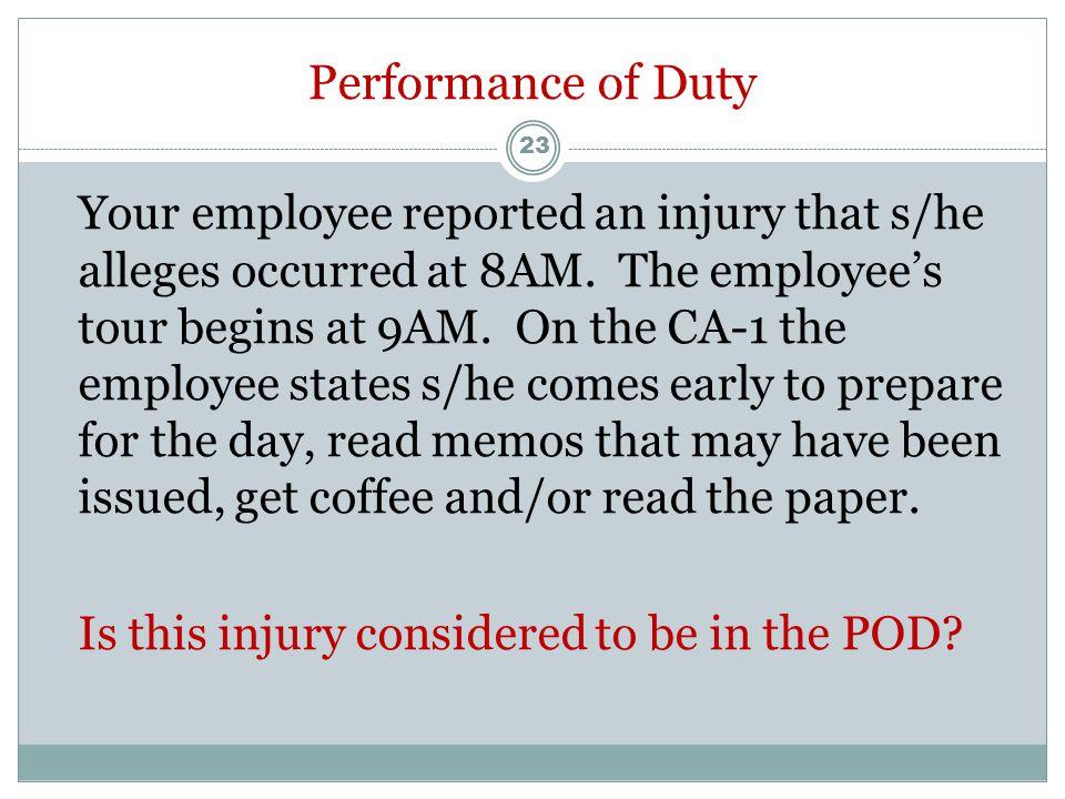 CA-17 (Duty Status Report)