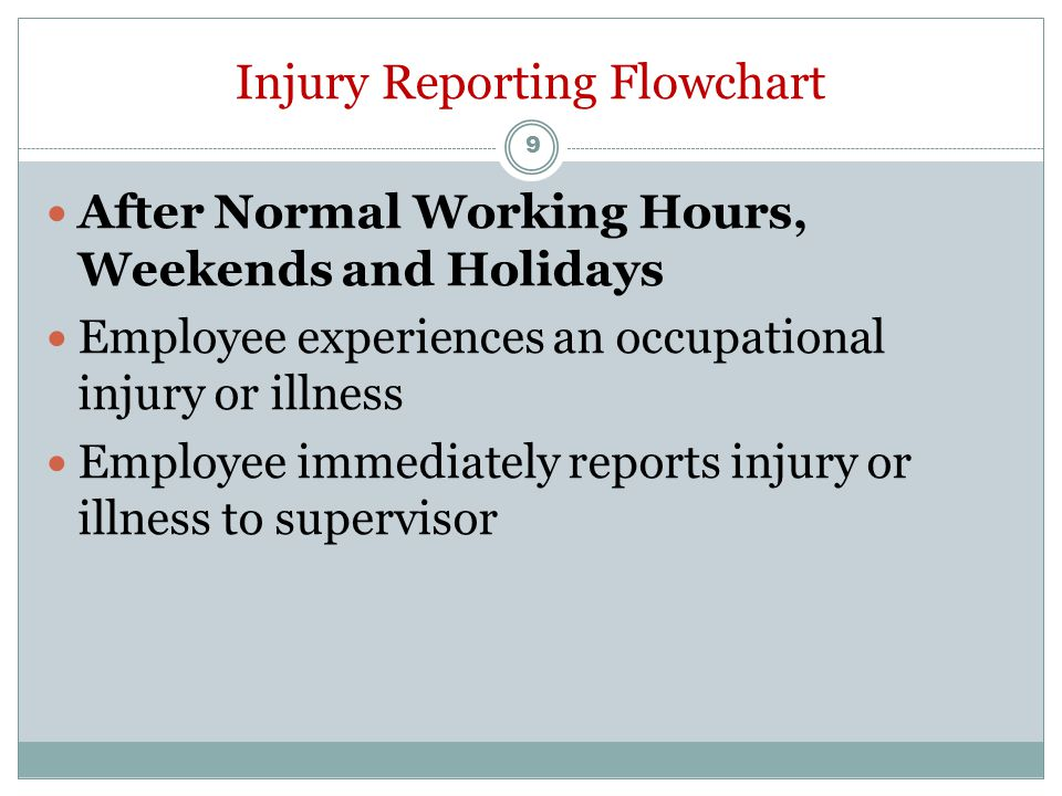 Employee Does Not Require Emergency Treatment