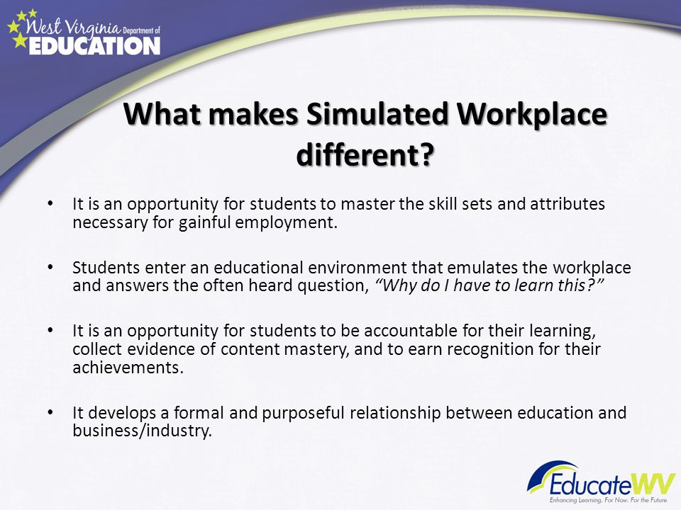 What makes Simulated Workplace different