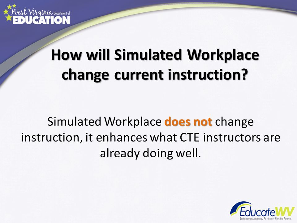 How will Simulated Workplace change current instruction