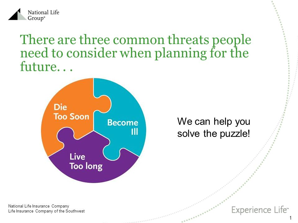There are three common threats people need to consider when planning for the future. . .
