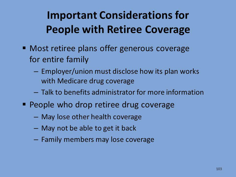 Important Considerations for People with Retiree Coverage