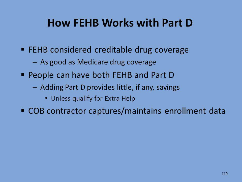 How FEHB Works with Part D