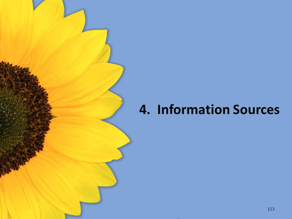 4. Information Sources