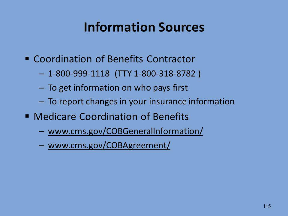 Information Sources Coordination of Benefits Contractor