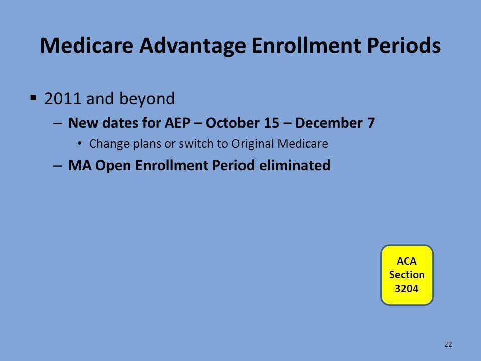 Medicare Advantage Enrollment Periods