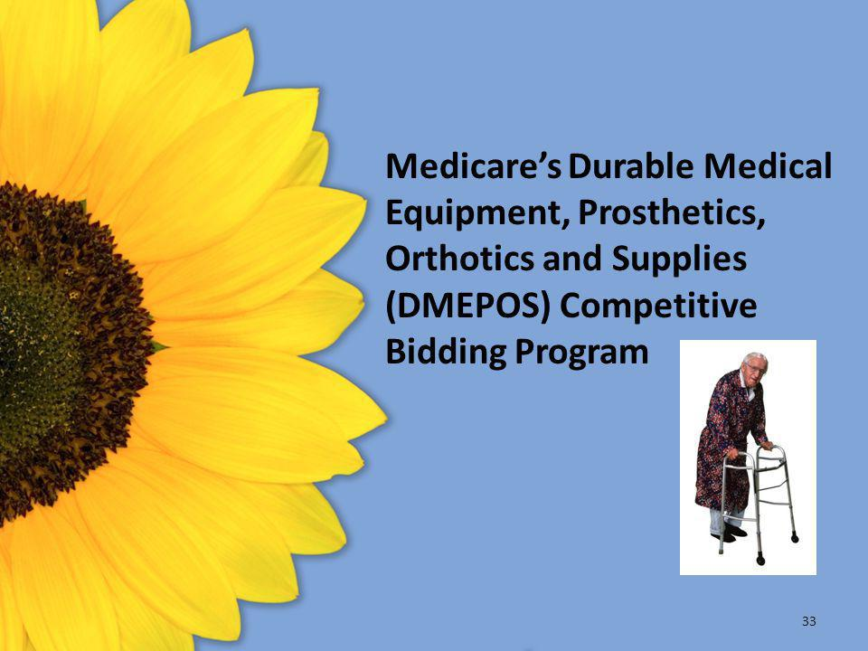 Medicare's Durable Medical Equipment, Prosthetics, Orthotics and Supplies (DMEPOS) Competitive Bidding Program