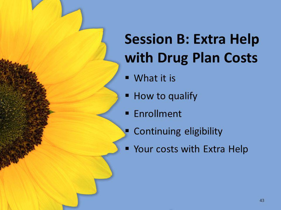 Session B: Extra Help with Drug Plan Costs