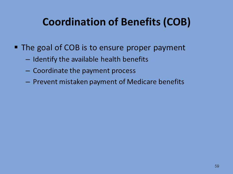 Coordination of Benefits (COB)
