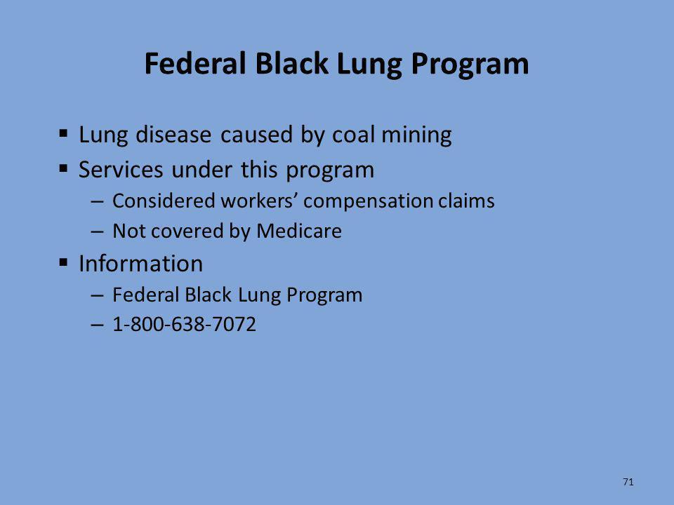 Federal Black Lung Program
