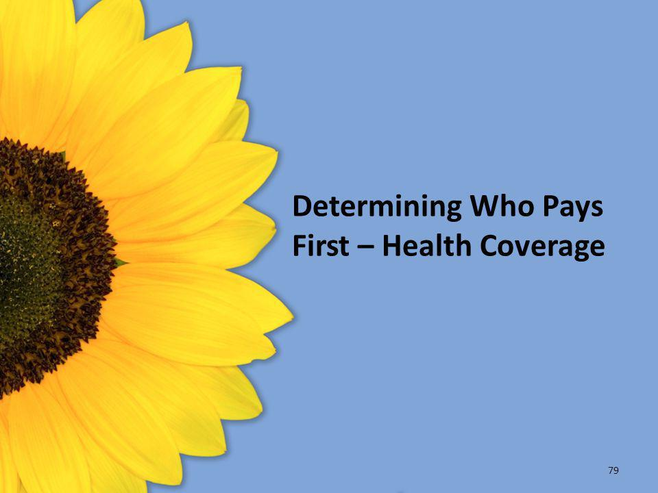 Determining Who Pays First – Health Coverage