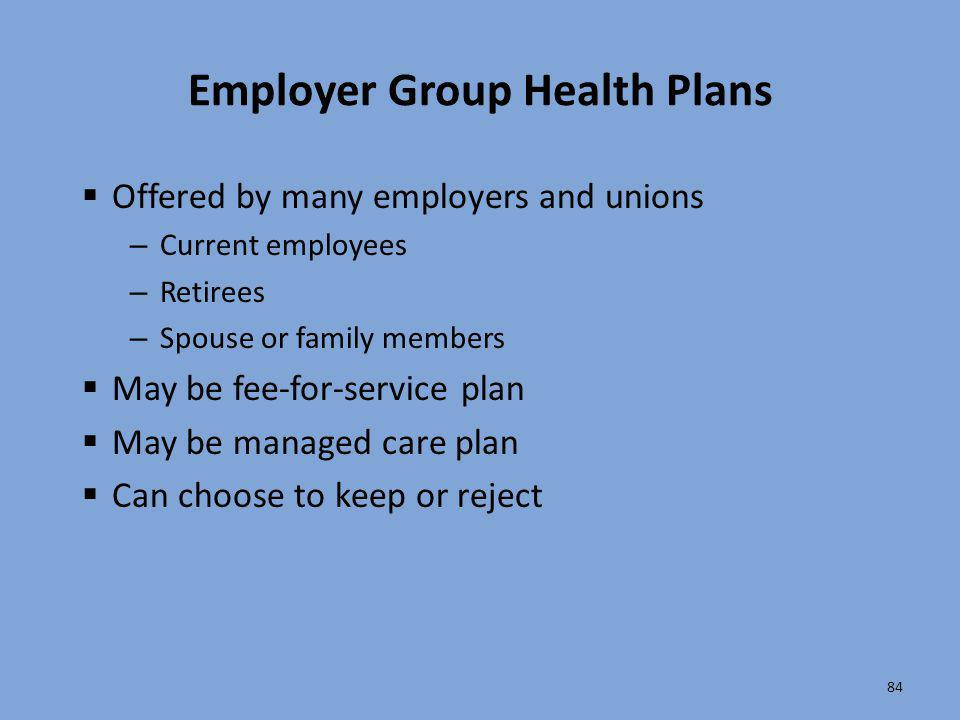 Employer Group Health Plans