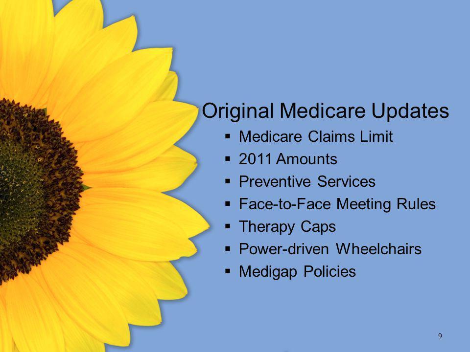 Original Medicare Updates